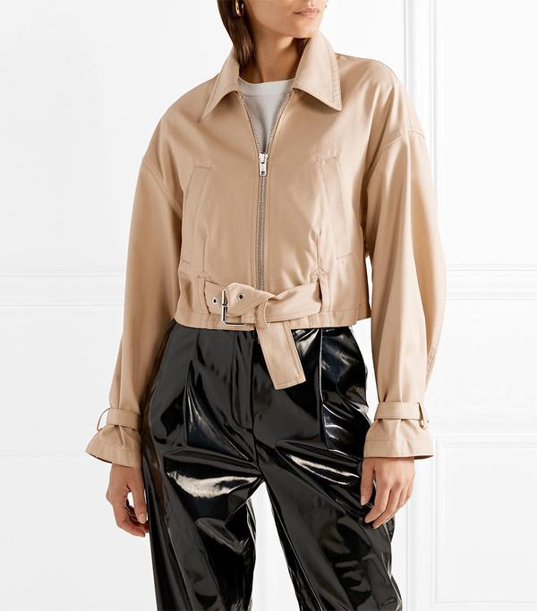 Belted Twill Jacket