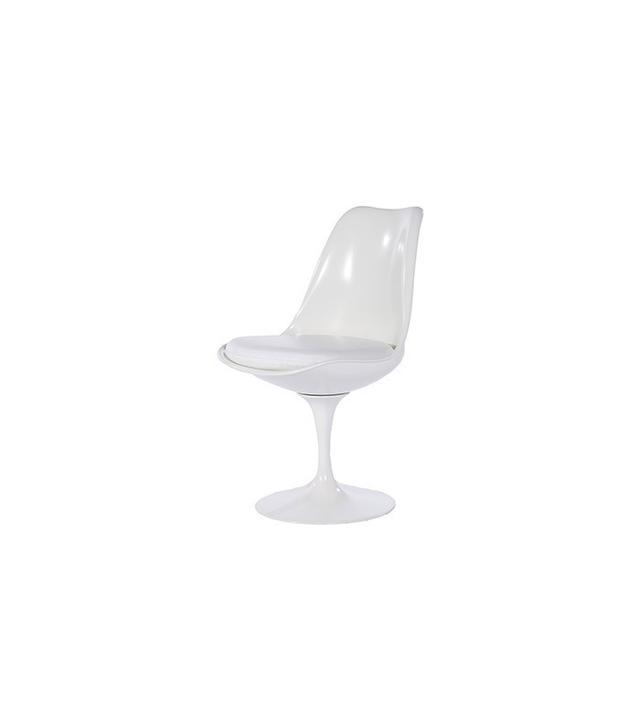 Kardiel Tulip Style Chair White Fiberglass