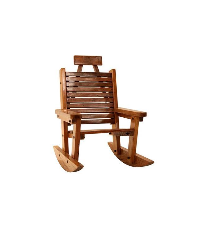 Vintage Solid Peroba de Rosa Heavy Wood Rocking Chair