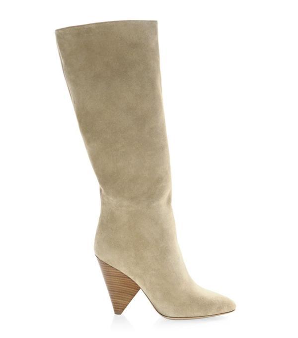 Belinda Suede Knee-High Boots
