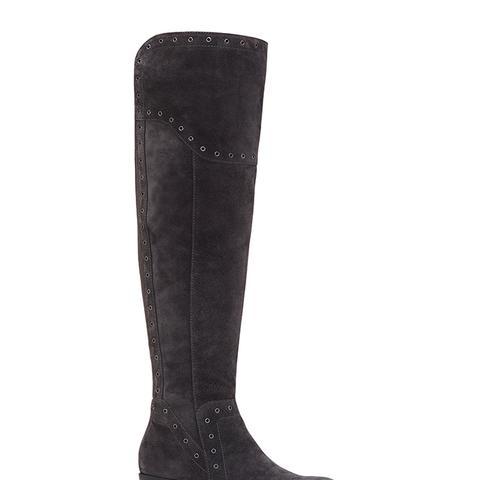 Bestan Wide-Calf Grommet Over-the-Knee Boots