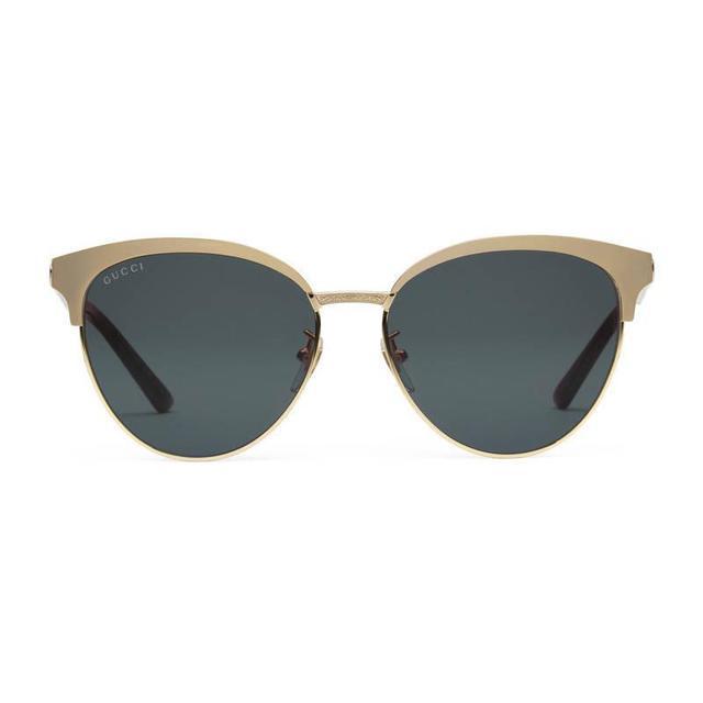Cat eye acetate and metal sunglasses