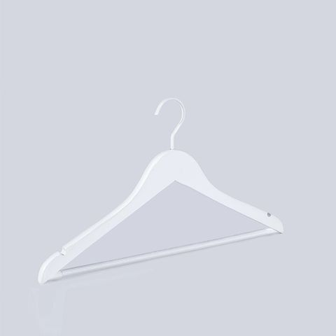 Extra Strong White Wooden Hangers