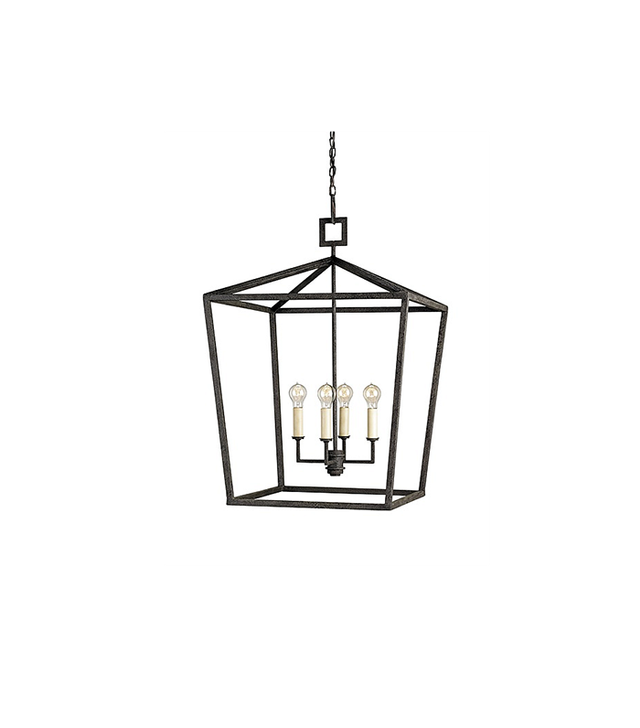 The Designer Insider Rustic Black Foyer Lantern