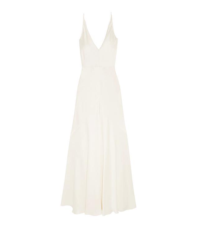 Gabriela Hearst Louise Herringbone Silk-Jacquard Gown