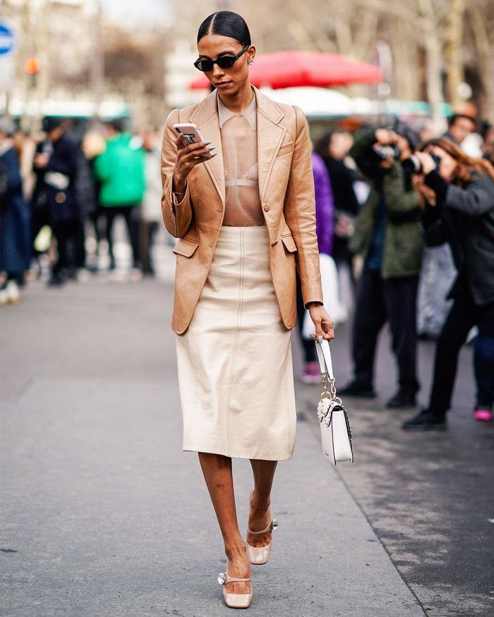 Spring Fashion Street Style—Leather