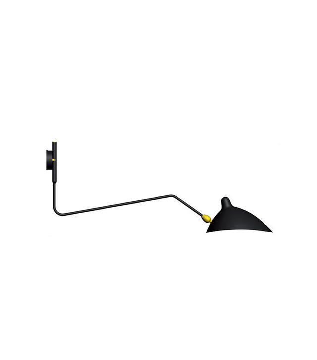 Serge Mouille Applique 1 Bras Pivotant Courbe Wall Lamp