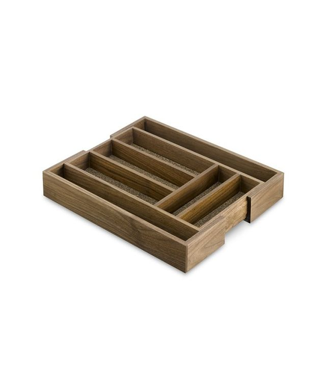 Williams-Sonoma Walnut Expandable Flatware Tray