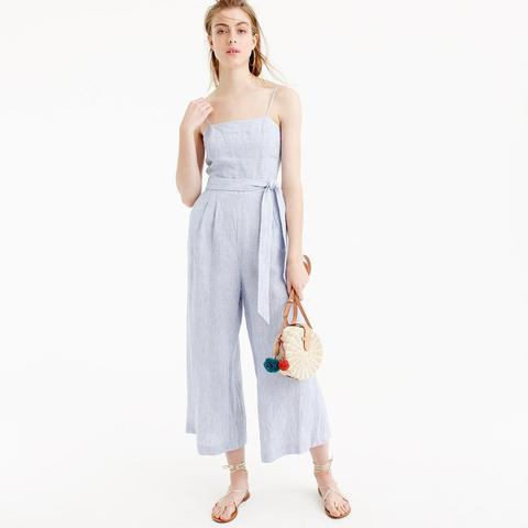 Striped Linen Jumpsuit