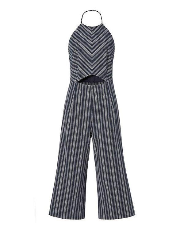 Elena Striped Cropped Jumpsuit