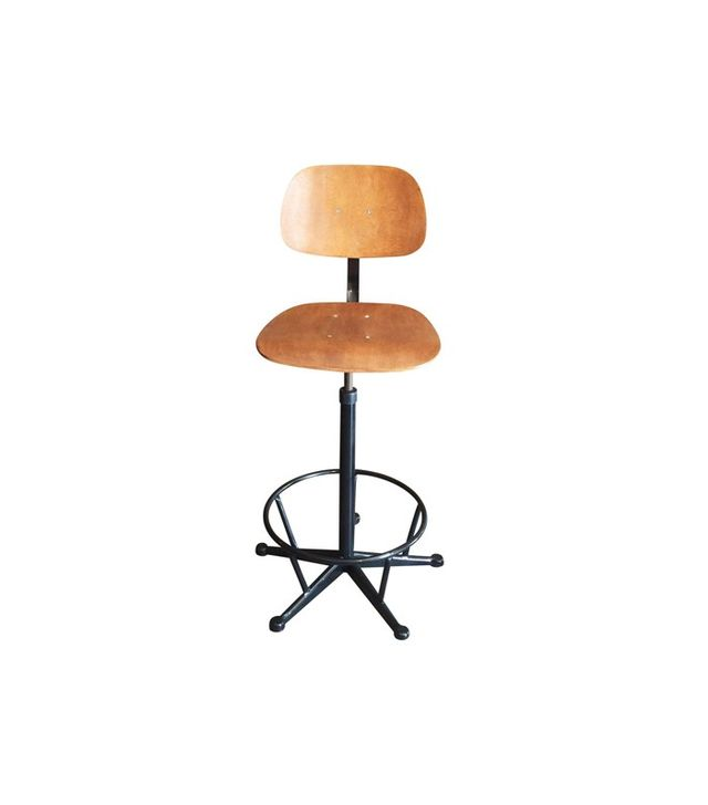 Chairish French Vintage Industrial Stool Chair