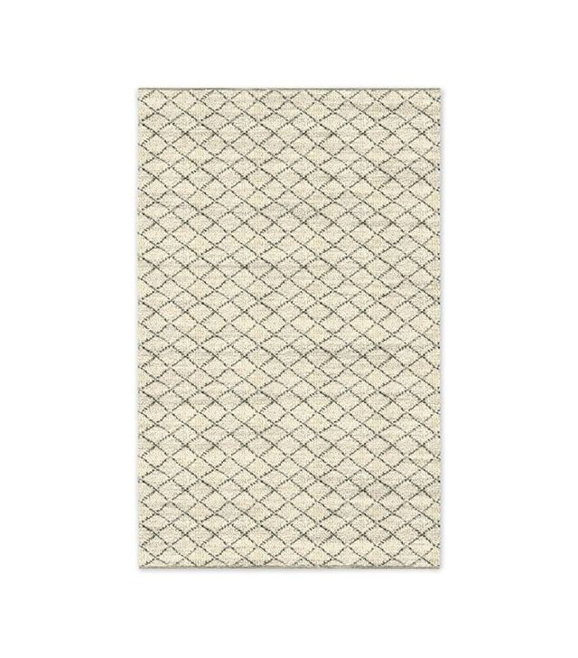West Elm Watercolor Trellis Wool Shag Rug