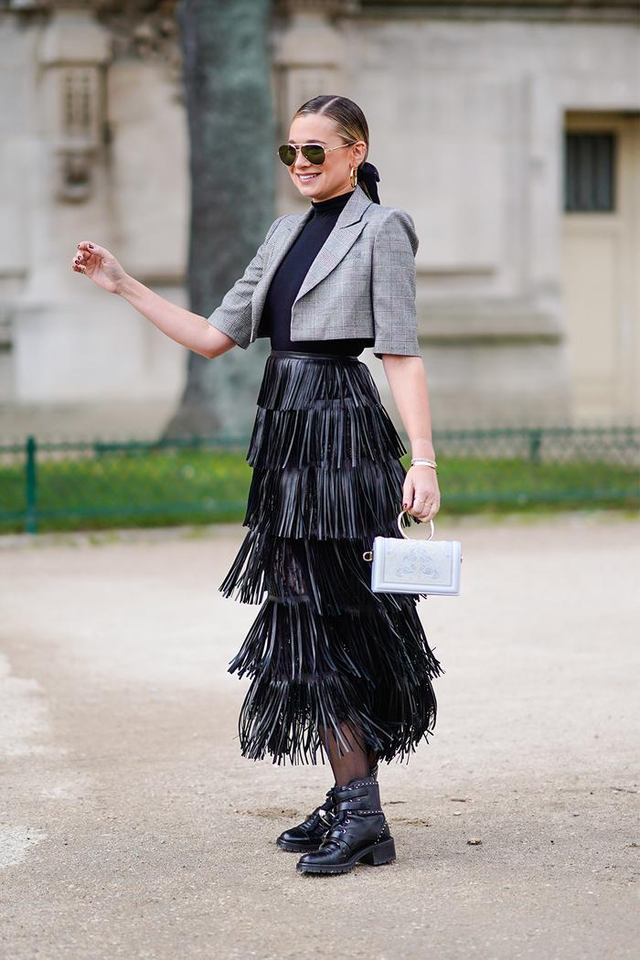 Fringe skirt outfits