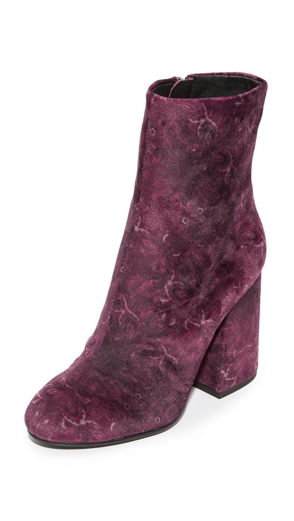 Fedora Embroidered Booties