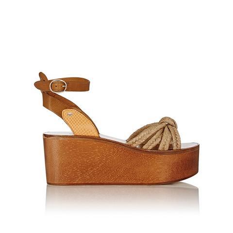 Kia Platform Wedge Sandals