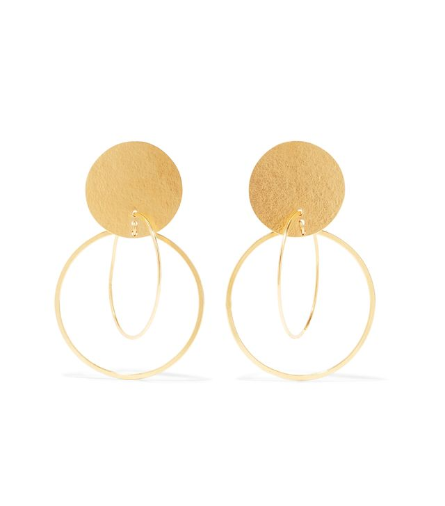 Halo Gold-tone Earrings