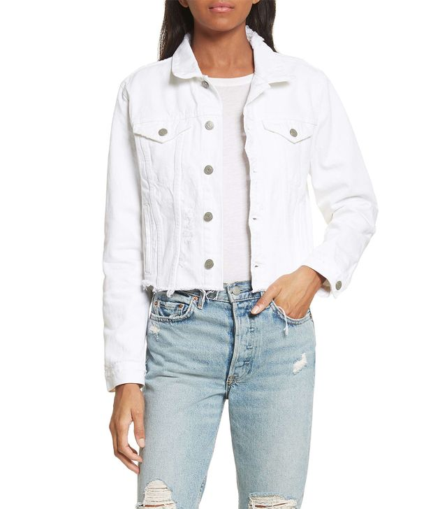 Women's Grlfrnd Cara Crop Denim Jacket