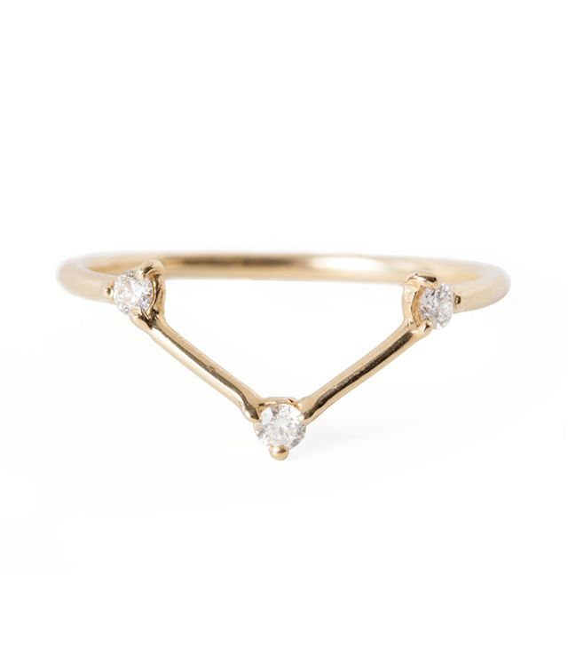 Wwake Three Step Triangle Ring