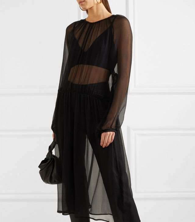 New Angel Silk-chiffon Midi Dress