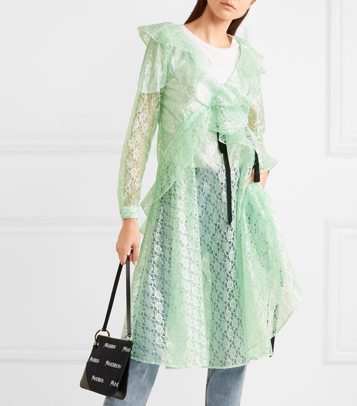 Carmen Ruffled Lace Midi Dress