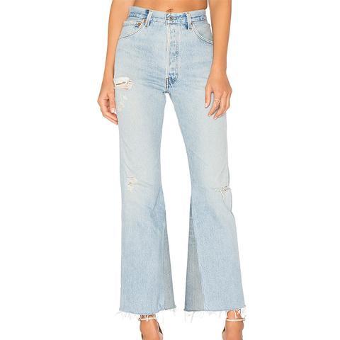 Leandra High Rise Crop Flare Jeans