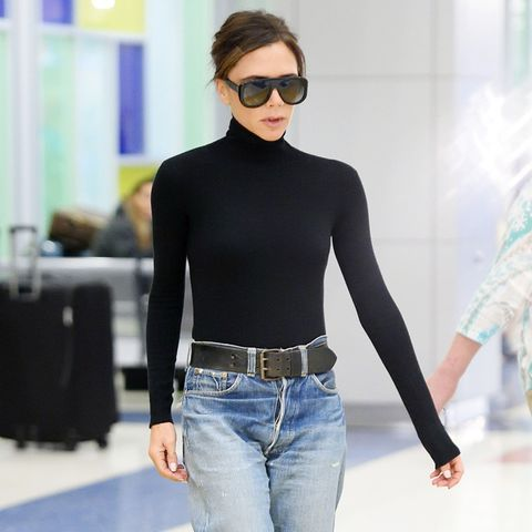 Victoria Beckham Airport Outfit