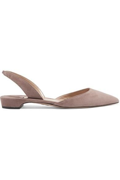 Rhea Suede Point-toe Flats