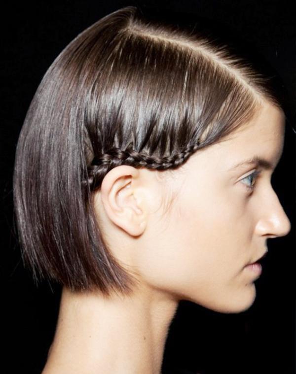 Mini Side Braid for Short Hair