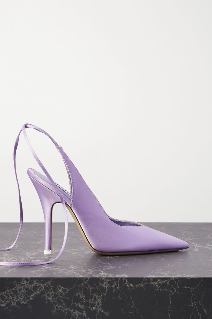 How To Wear Purple Heels
