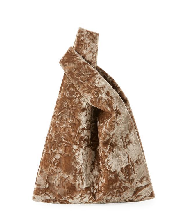 Mini Folded Velvet Shopper Tote Bag