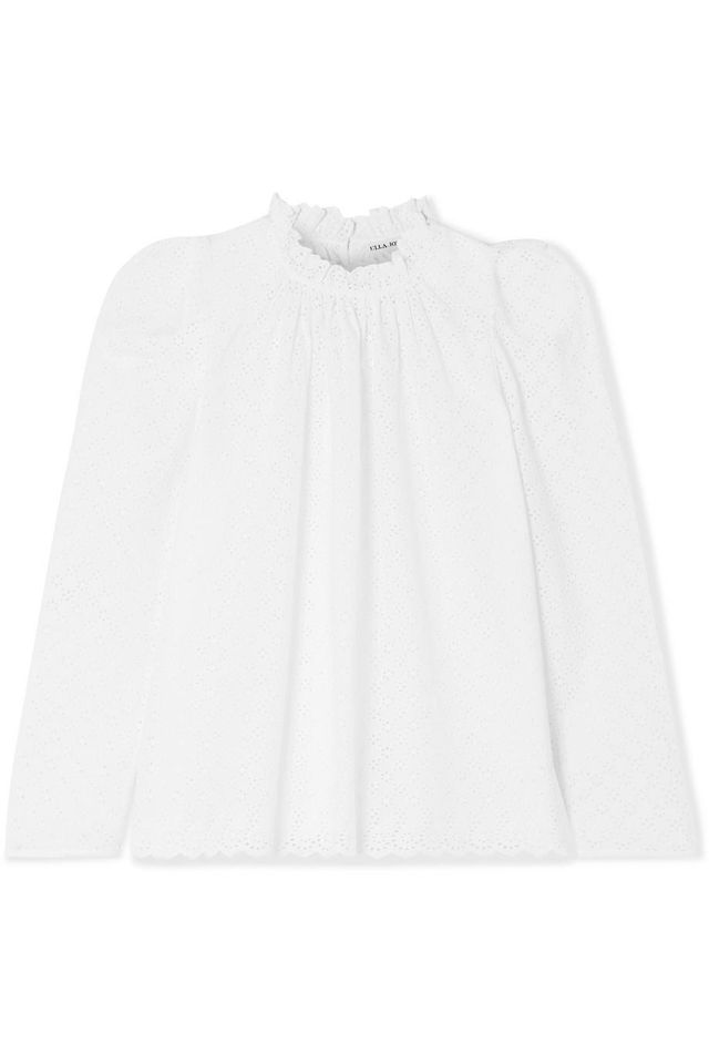 Gracie Broderie Anglaise Cotton Blouse