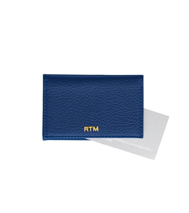 Mark and Graham Leather Foldover Business Card Holder