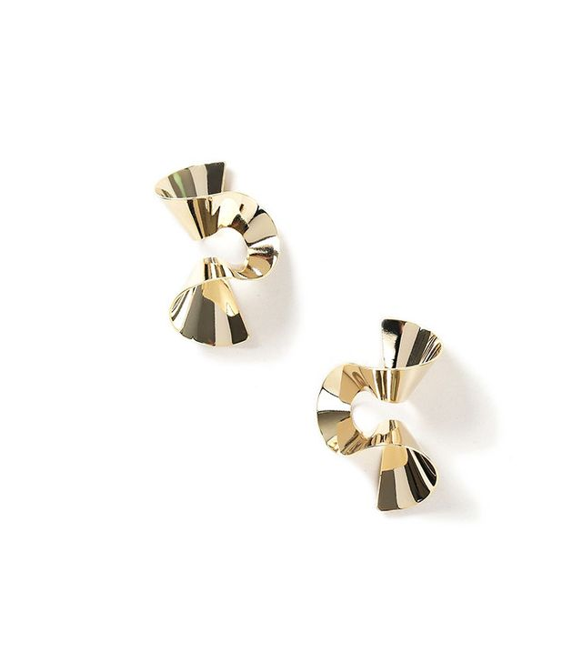 Topshop Wave Twist Earrings