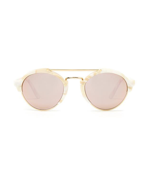 Illesteva Milan II Round-Frame Acetate Sunglasses
