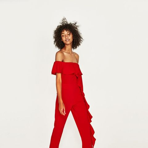 Flowing Ruffled Jumpsuit