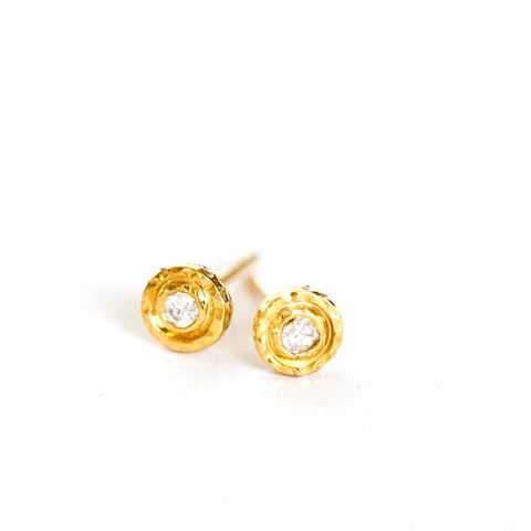 Diamond Nesting Gem Stud