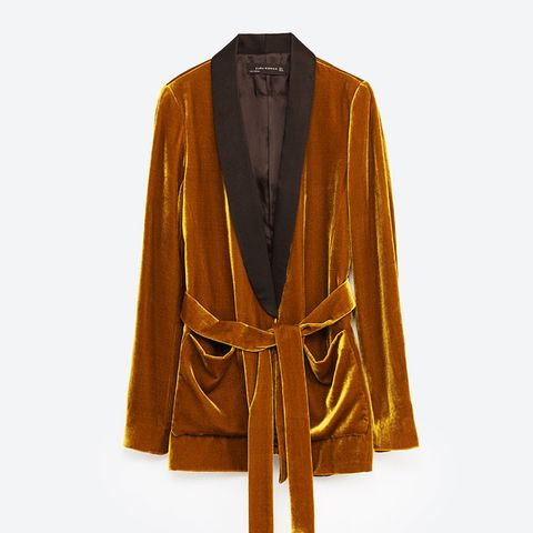 Velvet Jacket with Belt