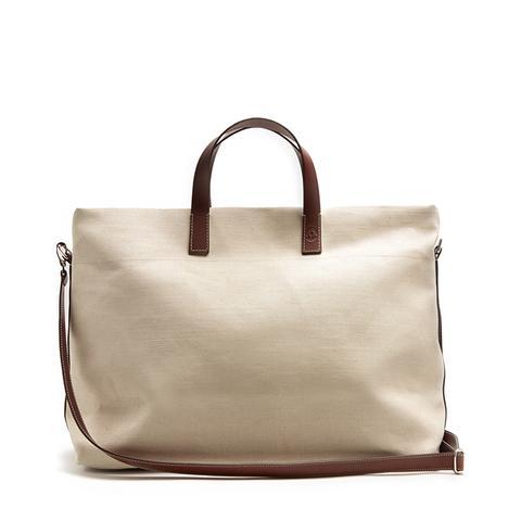 Linen Canvas Weekend Bag