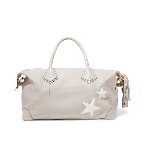 Voyager Appliquéd Leather Weekend Bag