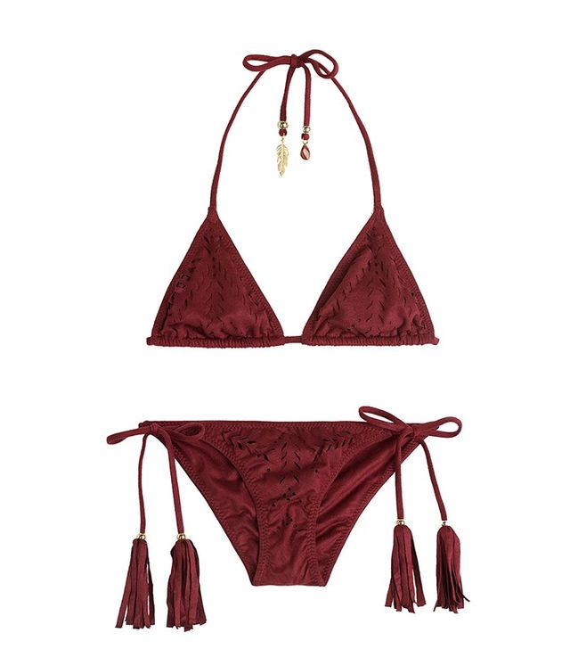 Alé by Alessandra Triangle Bikini Top With Cut-Out Detail