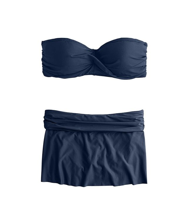 J.Crew Twist-Bandeau Underwire Bikini Top