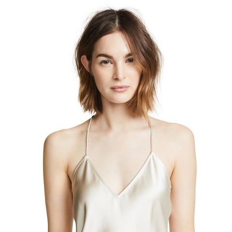 Draped Back Slip Top
