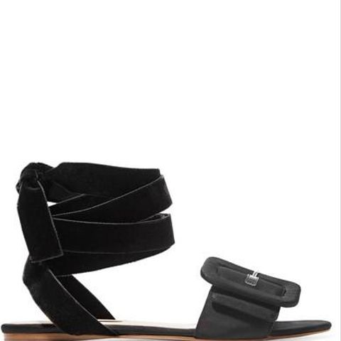 Jole Moire and Velvet Sandals