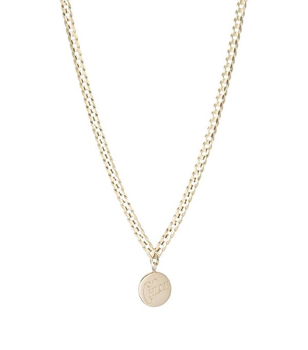 how to layer jewelry - Ariel Gordon Medallion Signet Necklace