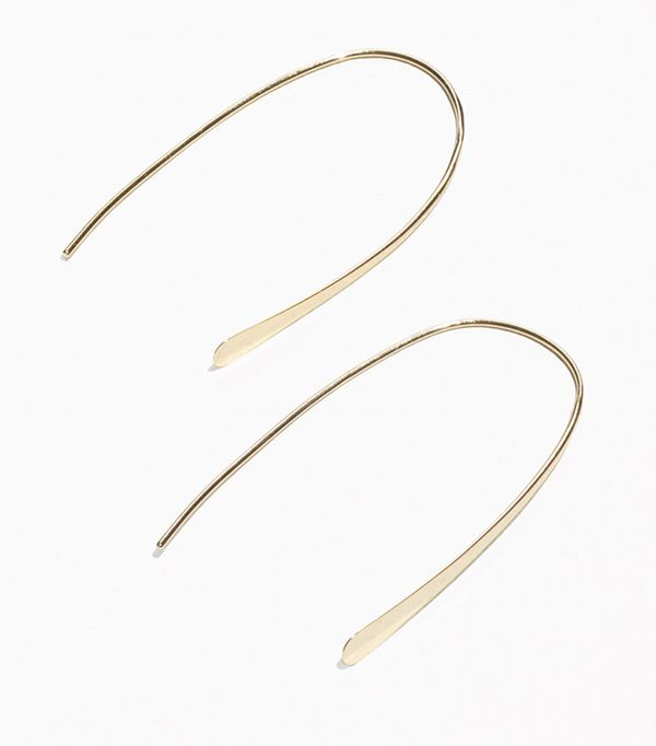 how to layer jewelry - & Other Stories Semi-Hoop Earrings
