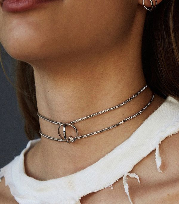 how to layer jewelry -  Lili Claspe Elara Choker