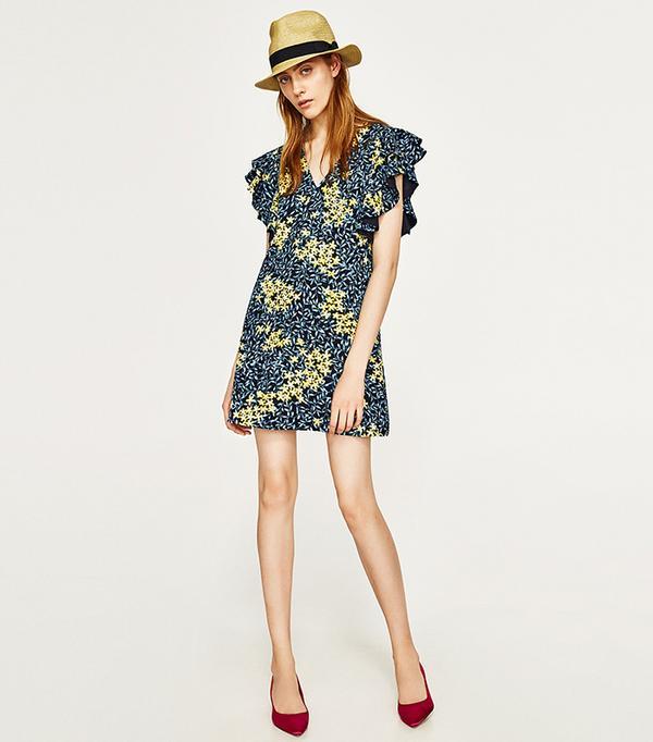 cheap summer dresses - Zara Floral Print Dress