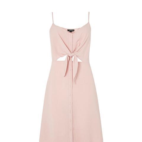 Knot Front Mini Dress