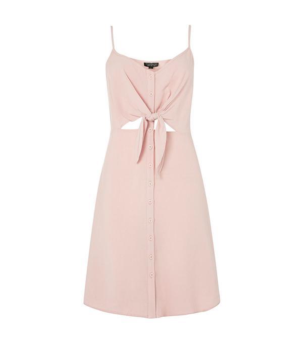 cheap summer dresses - Topshop Knot Front Mini Dress