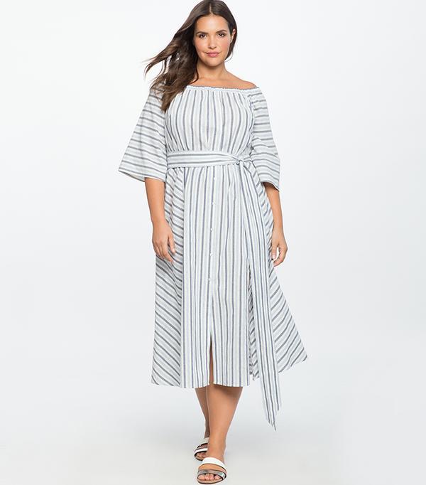 cheap summer dresses - Eloquii Off-the-Shoulder Dress